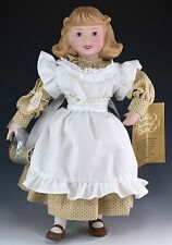 Coats & Clark Thread Franklin Mint Country Store Porcelain Doll 12 Inch w/Tag