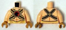 LEGO - Minifig, Torso Muscles Outline w/ Gold Belts & Red Buckle w/ Black Hawk