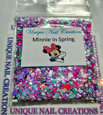 Limited Edition Glitter Mix~Minnie In Spring* Comes With Alloy~ Nail Art