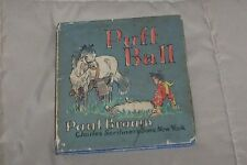 PAUL BROWN Horse Art PUFF BALL Pony Story 1942 COLOR PICTURE BOOK * HC/DJ * RARE