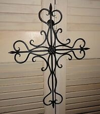 Wall Cross, Cast Iron, wall decor, home and garden, garden decor, Cross, Metal