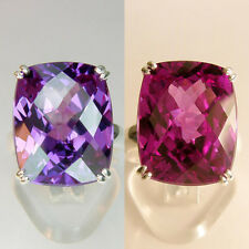 49 cts Cushion CKB Russian Alexandrite stone, Sterling Silver Ring size 7