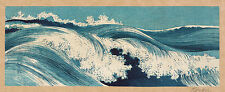 Japanese Print Reproductions: Konen: Ocean Waves:  3 Fine Art Prints