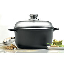 "Eurocast Professional Cookware 8"" 2.6L Stock Pot with Glass Lid"