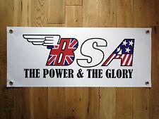 BSA El Potencia & El Glory Rocket Impermeable Exterior Garaje Uso Pancarta