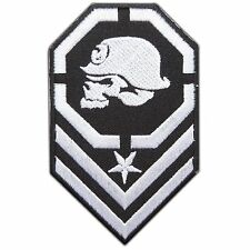 Army Military Insignia Rank Skull Metal Mulisha Biker Rocker Iron-On Patch #0792