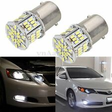 2X 1156 BA15S P21W 3014 54 SMD LED Car Tail Backup Light Bulb White DC 12-24V