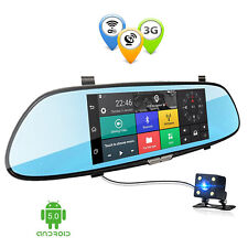 Universal 3G 1080P GPS Car Video Recorder Bluetooth WIFI Dual Rear View Mirror
