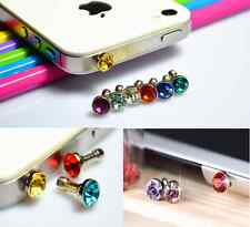 20Pcs Crystal Earphone Jack Anti Dust Plug Cap Stopper For All Cellphone 3.5mm
