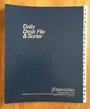 Oxford A-Z Expandables Daily Desk File & Sorter ~ DDF3-OX (Blue)