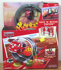Race N Rescue Station MINI Adventure Playset Disney Cars RARE Red the Fire Truck