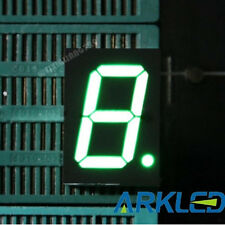 5pcs 1 inch 1 digit led display 7 seg segment Common cathode 阴 green 1""