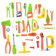 Children 34Pcs Tools Set Role Pretend Play Craftsman Carpentry Repair Toys