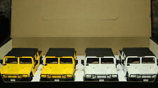 HUMMER MAISTO Soft Top DIECAST Car 1:27 Scale Lot of 4 Cars