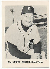 1960s MLB Baseball Photo / Card Chuck Dressen Manager of the Detroit Tigers