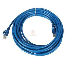 "295.2""/25FT CAT5 CAT5e RJ45 Ethernet Lan Network Blue Patch Cable Durable US CA"