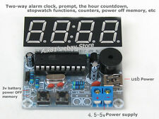 AT89C2051 3V-5V 4 Digit LED Electronic Clock Parts Digital Alarm Clock Kit DIY