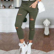 Damen Stretch Hose Stoffhose Röhre Skinny Leggings Leggins Treggings Jeggings