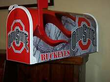 OHIO STATE BUCKEYES FLAMED DIAMONDPLATE MAILBOX Fullsized POSTMASER APPROVED
