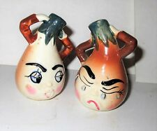 Vintage Salt and Pepper anthropomorphic Crying Onion Japan
