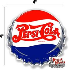 "(PC-209) 4""  PEPSI CAP  ICE COLD SODA POP VENDING MACHINE COOLER GUMBALL"