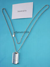 Tiffany & Co Mens 1837 Sterling Silver Tag Necklace