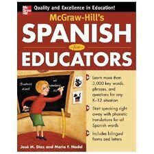 McGraw-Hill's Spanish for Educators Book Only