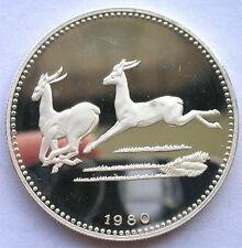 1980 Equatorial Guinea Large Silver Proof 2000 E Antelope-Impala
