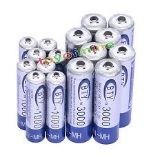 8+8 AA AAA NiMH 1.2v Recarga la batería recargable de Venta