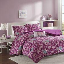 Berry Paisley Comforter Set Tribal Elephants FULL QUEEN Bed Teen Bedding Covers