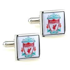 LIVERPOOL FC CUFFLINKS Football Club Fan Sports Team Soccer NEW w GIFT BAG Groom