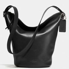 NWT Coach Bleecker Soft Port Leather Duffle Shoulder Bag AR Black F32282