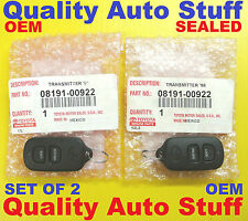 NEW OEM Lot 2X Set of 2 Toyota Remote Dealer Installed RS3200 BAB237131-056