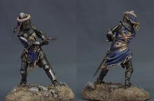 Tin toy soldiers ELITE painted 54 mm  German Knight with waraxe1350-70