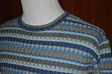 Men's Missoni Sport Knit Crew neck Colorful Sweater Cotton Beautiful L / XL 50