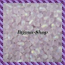 25 Perles de boheme goutte 9x6mm coloris Alexandrite mat ab