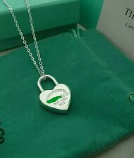 STAMPED 925 silver heart pendant necklace  female GIRL LOVERS FRIEND GIFT +BAG