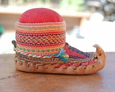antique pin cushion, moccasin sewing, hand woven, leather - Serbia Serbian