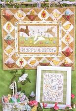 Bareroots Happy Easter Bunny Rabbit Eggs Wallhanging Quilt and Stitchery Pattern