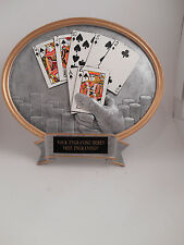 POKER/TEXAS HOLD EM CARDS RESIN OVAL TROPHY AWARD  - FREE ENGRAVING!!!!