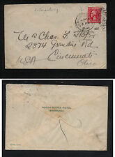 US  China  cancel , US stamp cover to US   1922              KEL09131