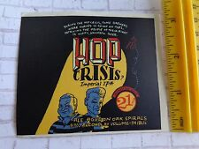 BEER Collectible STICKER: 21st Amendment Brewery Hop Crisis Imperial IPA 94 IBUs