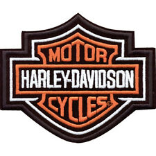 HARLEY DAVIDSON ORANGE BAR SHIELD PATCH  3 inch PATCH
