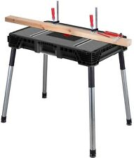 Husky 1.8 Ft. X 3 Ft. Portable Jobsite Work Table Tool Stand Workbench
