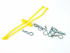 DUBRO BODY CLIP KLIP RETAINER - SET OF 2 WITH 8 CLIPS - YELLOW