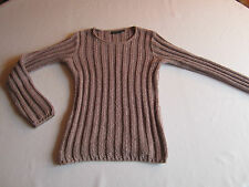 SUPERBE  PULL  KIABI   EN TRICOT   COMME NEUF   TAILLE 34 / 36   ROSE  FEMME
