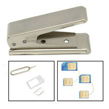 Regular Standard Micro To Nano SIM Card Metal Cutter +2 Adapters For iPhone5/5s