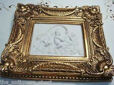 """Framed Stone Wall Plaque in stone compound, """"Three Angels"""", gorgeous frame"""