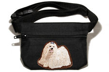 Embroidered Dog treat bag - for dog shows. Breed - Maltese