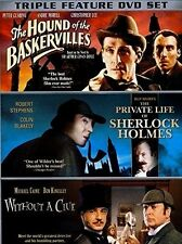 The Sherlock Holmes Collection NEW DVD Triple Feature Buy 2 Items-Get $2 OFF